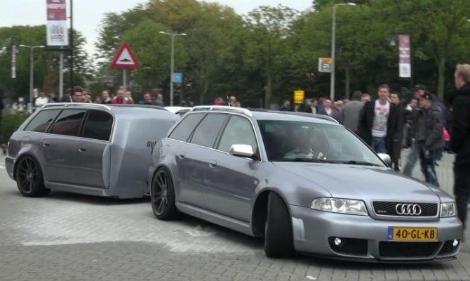 Carros ganham reboque idêntico à sua traseira