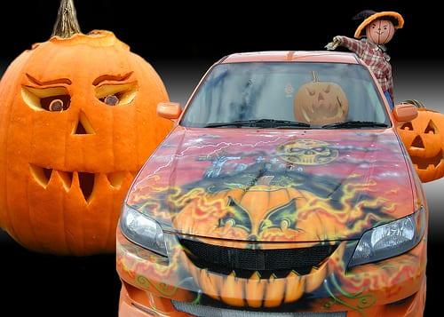 Curiosidade: fantasias de Halloween para carros!