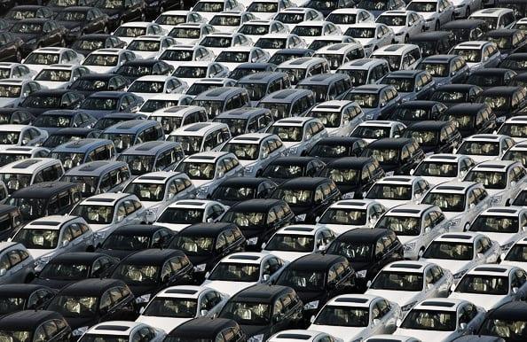 Milhões e milhões de carros..