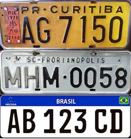 Brasil adotará placa de veículo modelo 'Mercosul' em 2016