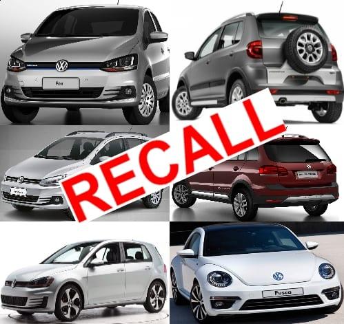 VW convoca recall por falha em airbag e vazamento de combustível