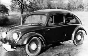 Primeiro protótipo do Fusca em 1938.