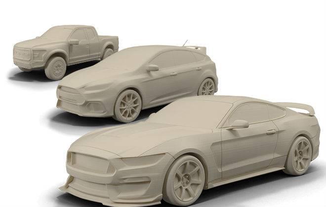 Modelos de carros da Ford são impressos em 3D