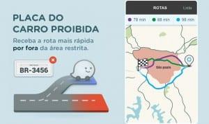 Waze ajuda a evitar o rodízio de carros.