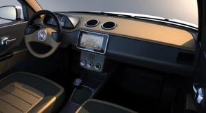 Interior do Fiat 127 Concept.