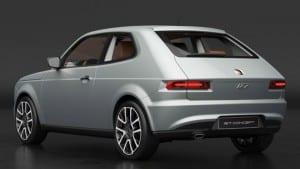 Traseira do Fiat 127 Concept.
