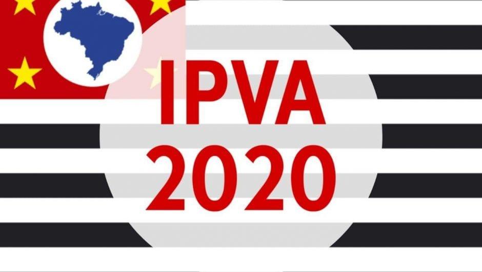 IPVA 2020 em São Paulo fica 3,54% mais barato