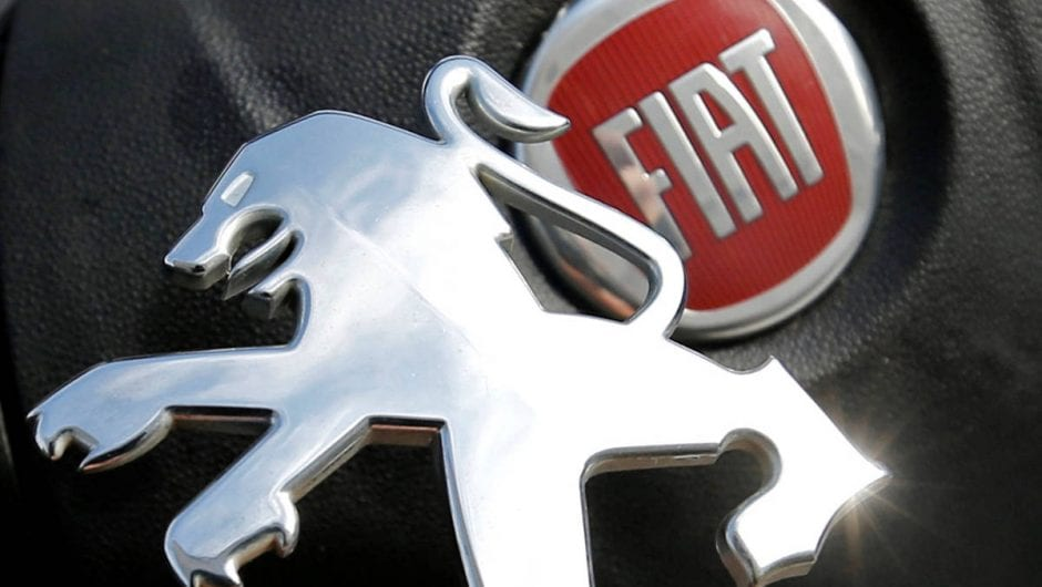 A Fiat e Peugeot confirmam acordo para unir as duas empresas